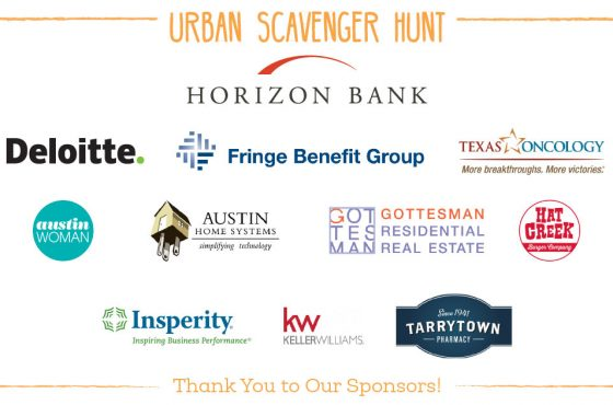 Hats off to these Urban Scavenger Hunt Sponsors and Partners